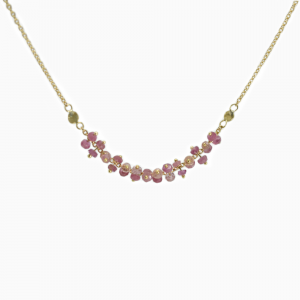 Necklace Dots pink Sapphires