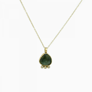 Necklace green Tourmaline